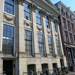 "The 17th century ""Poppenhuis"" by architect Philips Vingboons, the new location of Upstream Gallery,"