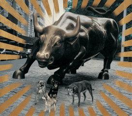 Sparkling-Dog Year-Wall Street Bull, Yan Lei