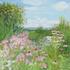 20151104010339-beal_phlox_cone_flowers_barn_30x30_oil_on_linen_2008