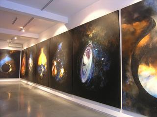 Installation view of Ghatak series, Shambavi Singh