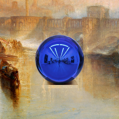 detail of \'Gazing Ball (Turner Ancient Rome)\', Jeff Koons