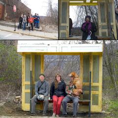 Guerilla Bust Stop-Braddock, PA, Sara Black, John Preus