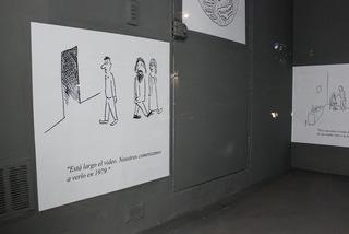 Artoons at La Vitrina de Lugar a Dudas, Pablo Helguera